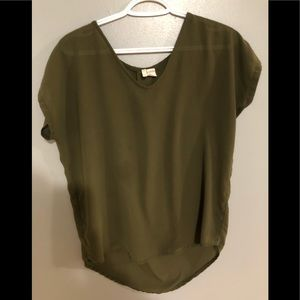 Tops - (5 for 20$) Olive Green blouse